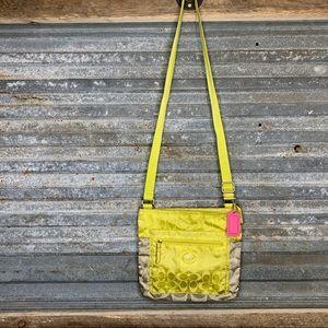 Coach colorblock nylon crossbody purse